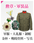 Ceremonial medals, Military gear items